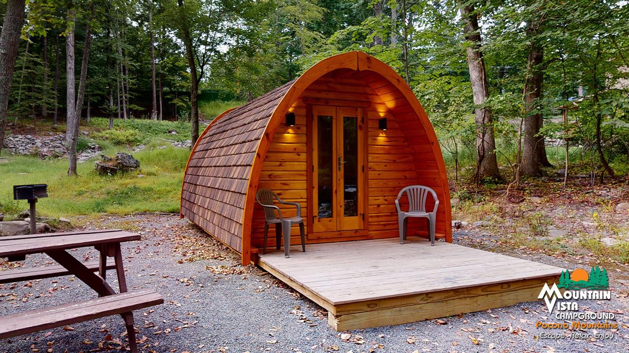 Cabin Camping - Mountain Vista Cabin Camping in the Pocono ...
