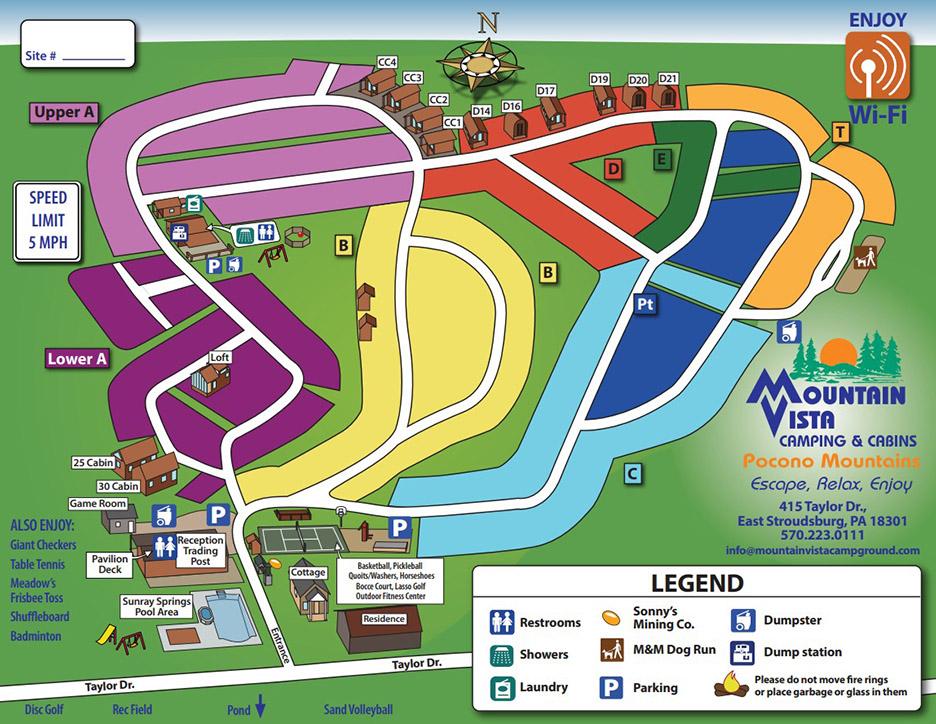 Mountain Vista Campground Map